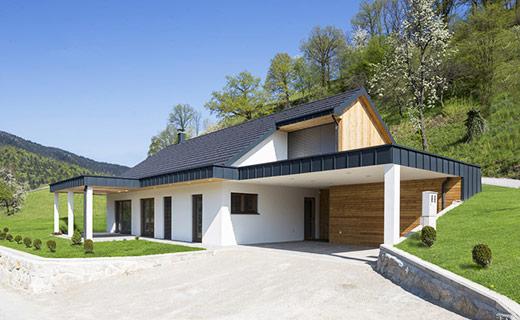 Enodružinska montažna hiša Ljubno