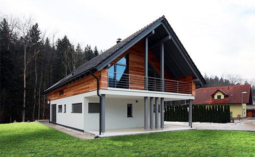 Enodružinska montažna hiša Pangrščica