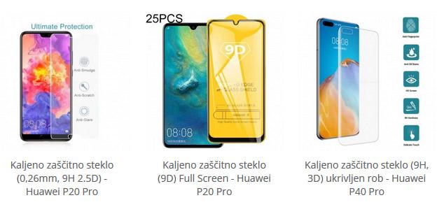 Zaščitna stekla za Huawei